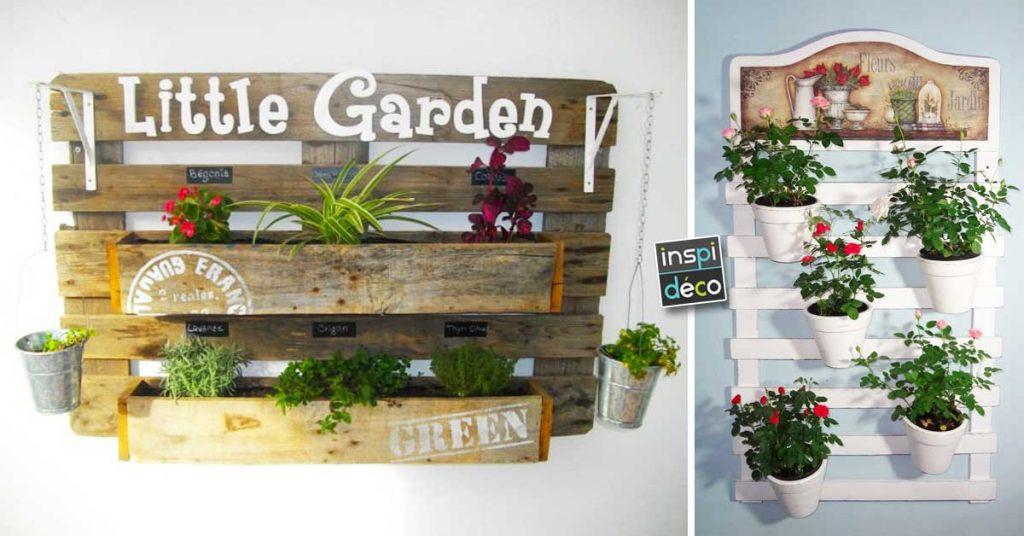 Une Jardiniere Murale En Palette De Bois Voici 20 Diy Pour