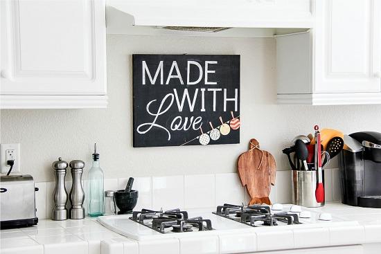 Lavagna fai da te per la tua cucina