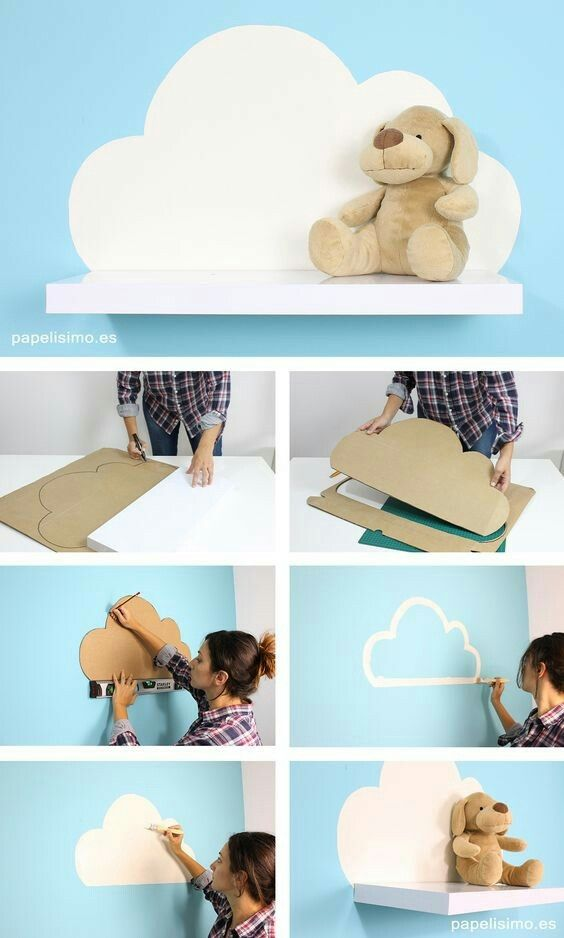Chambre bébé nuages