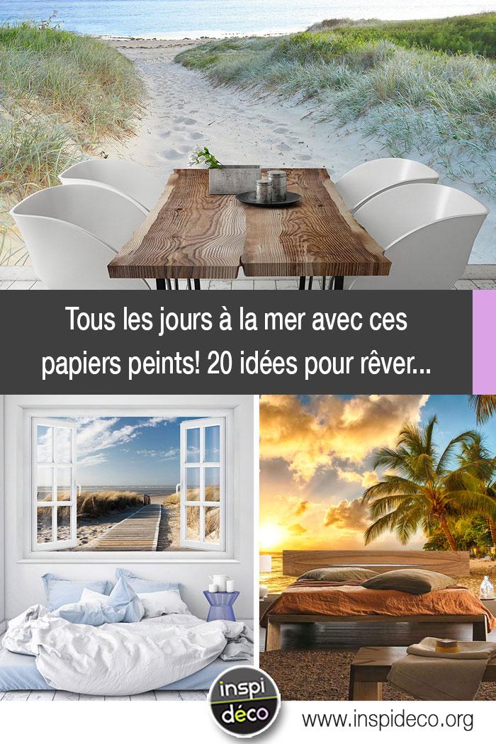 papiers peints ambiance bord de mer 20 id es pour vous faire r ver. Black Bedroom Furniture Sets. Home Design Ideas