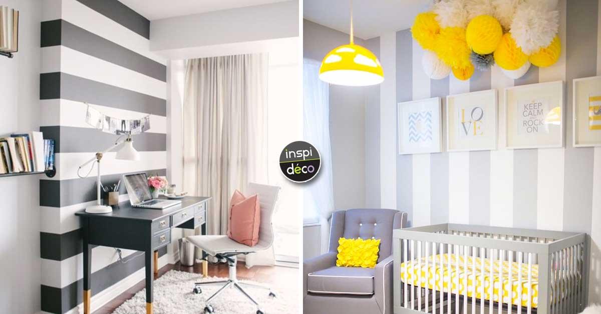peindre des rayures pour une d co pleine de caract re 20 exemples. Black Bedroom Furniture Sets. Home Design Ideas