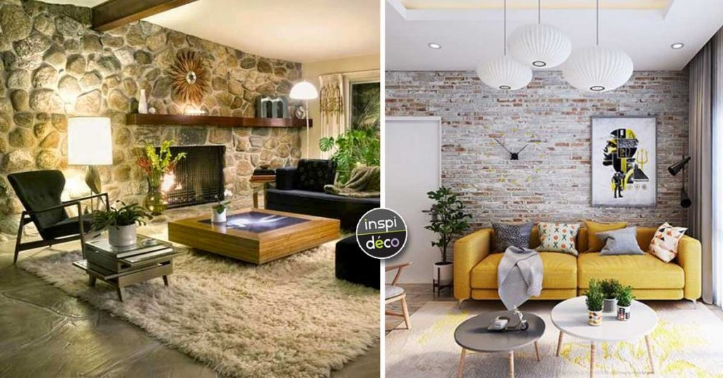 Murs En Pierres Apparentes Dans Le Salon 15 Idees Pour Vous