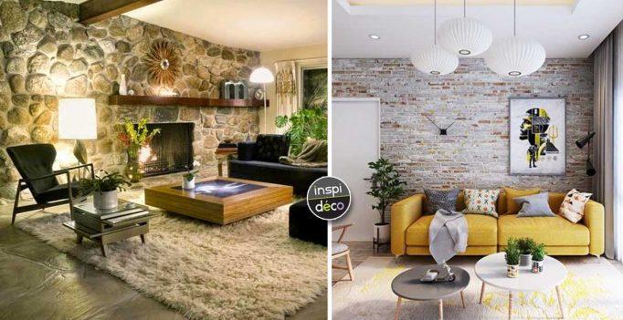 Dans Le Salon murs en pierres apparentes dans le salon! 15 idées pour vous inspirer