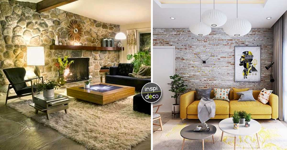 Murs en pierres apparentes dans le salon! 15 idées pour vous inspirer...