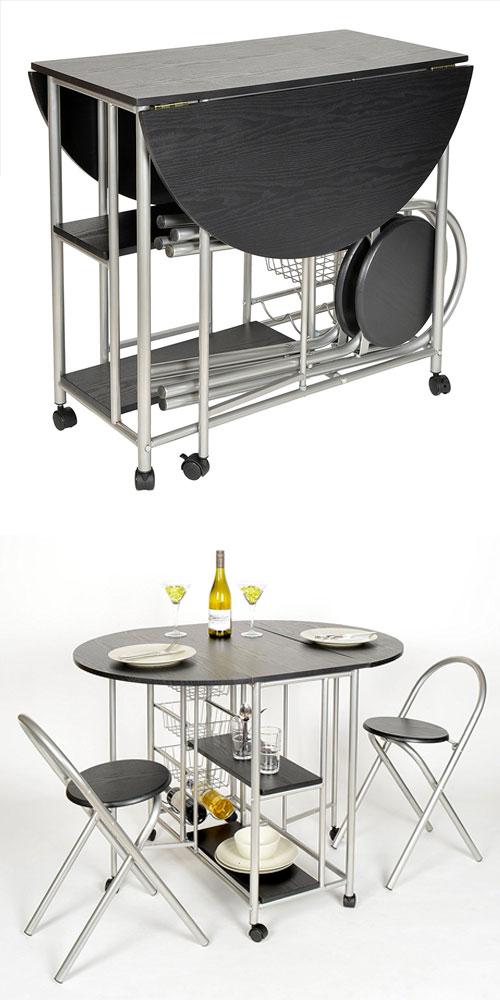 table gain de place pour petite cuisine en voici 15 pour vous inspirer. Black Bedroom Furniture Sets. Home Design Ideas