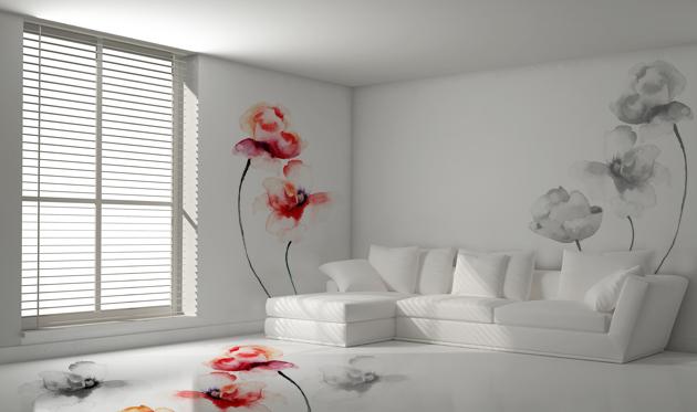 Pitture decorative sulle pareti di casa
