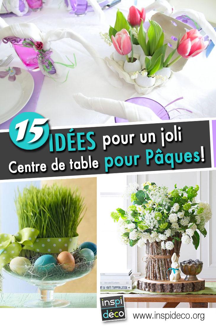 centre de table DIY pour Pâques