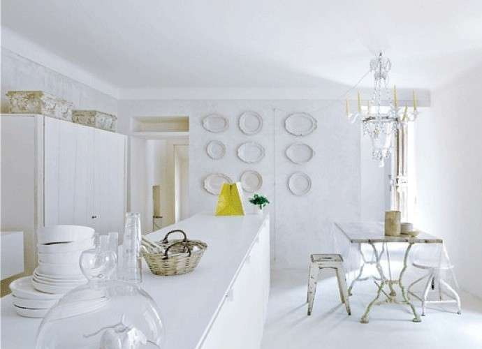 Total White for an interior always fashionable! 20 inspiring ideas...