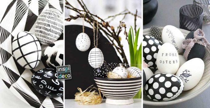 P¢ques en noir et blanc 15 idées déco pour vous inspirer
