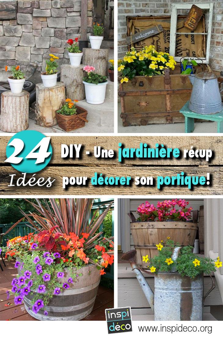 d corer son porche avec une belle jardini re diy 24 id es inspirantes. Black Bedroom Furniture Sets. Home Design Ideas