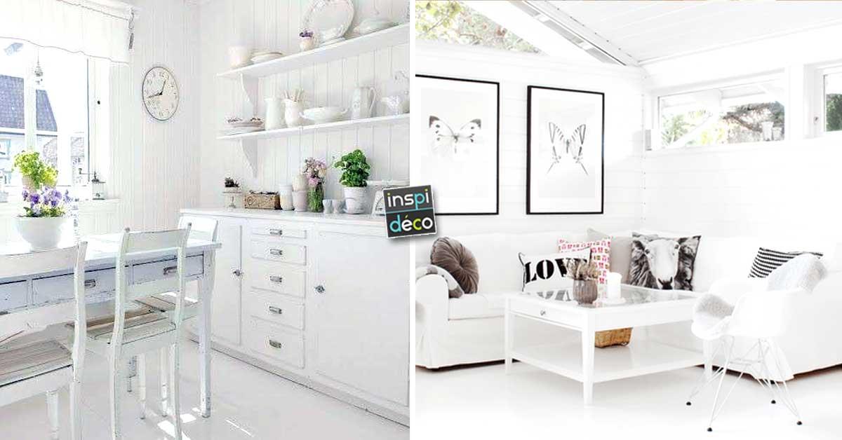 total white pour un int rieur toujours la mode 20 id es inspirantes. Black Bedroom Furniture Sets. Home Design Ideas