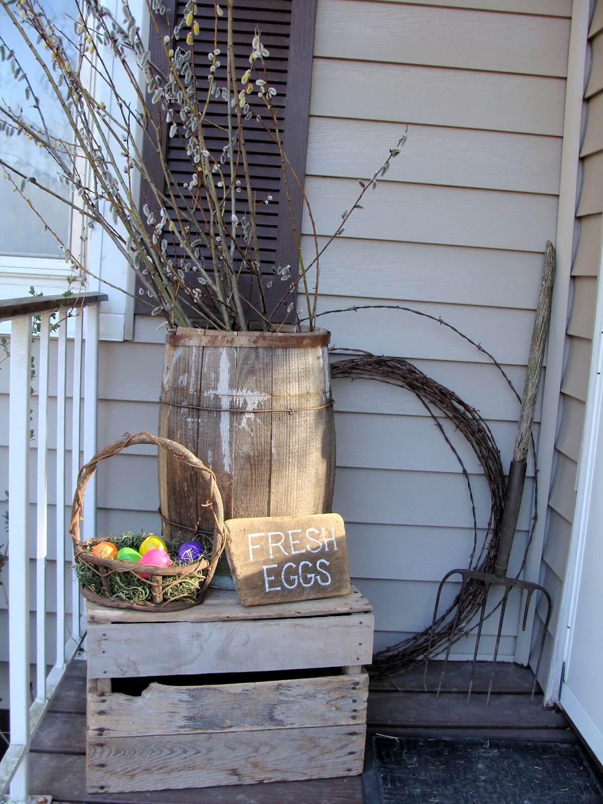 Décorations extérieures pour Pâques