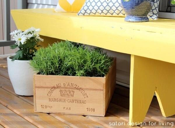 Décorer son Porche avec une belle jardinière