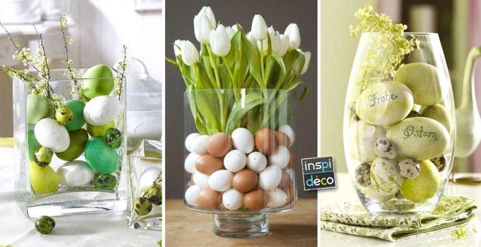 cr er une belle d co de p ques dans un vase 15 id es inspirez vous. Black Bedroom Furniture Sets. Home Design Ideas