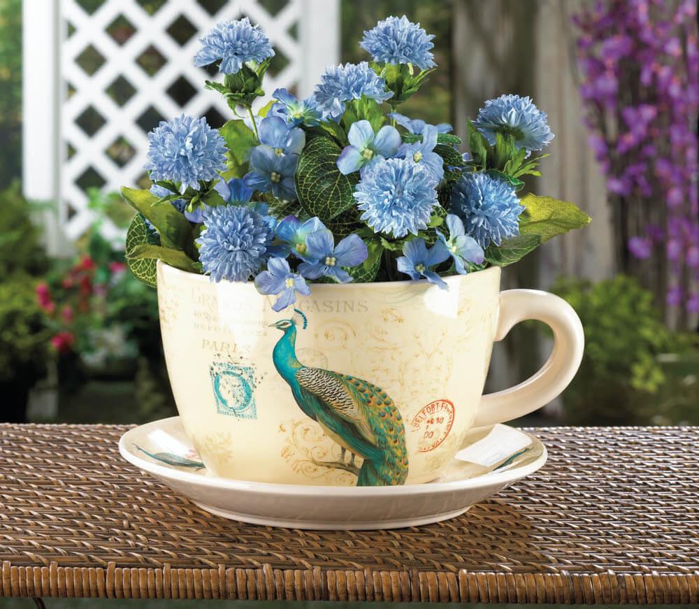 Un mini giardino in una tazza