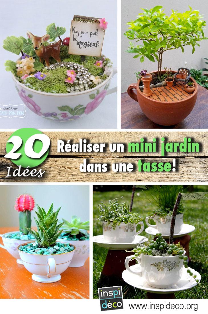 R aliser un mini jardin dans une tasse 20 id es diy pour for Jardin pour vous