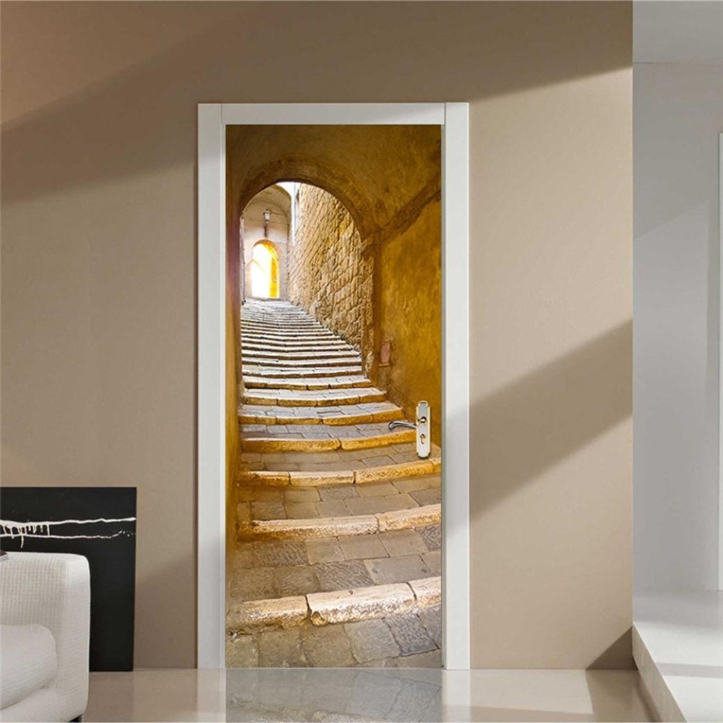 d corer une porte avec un sticker un peu de fantaisie. Black Bedroom Furniture Sets. Home Design Ideas