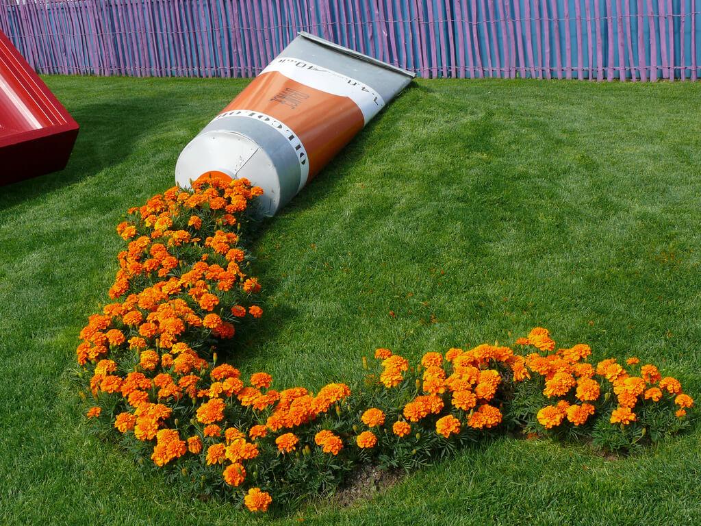 Un Vaso Pieno Di Fiori Del Giardino   Idea N ° 2
