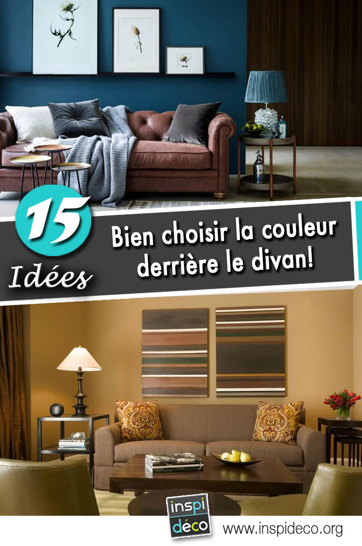choisir la couleur du mur derri re le divan 15 id es pour vous inspirer. Black Bedroom Furniture Sets. Home Design Ideas