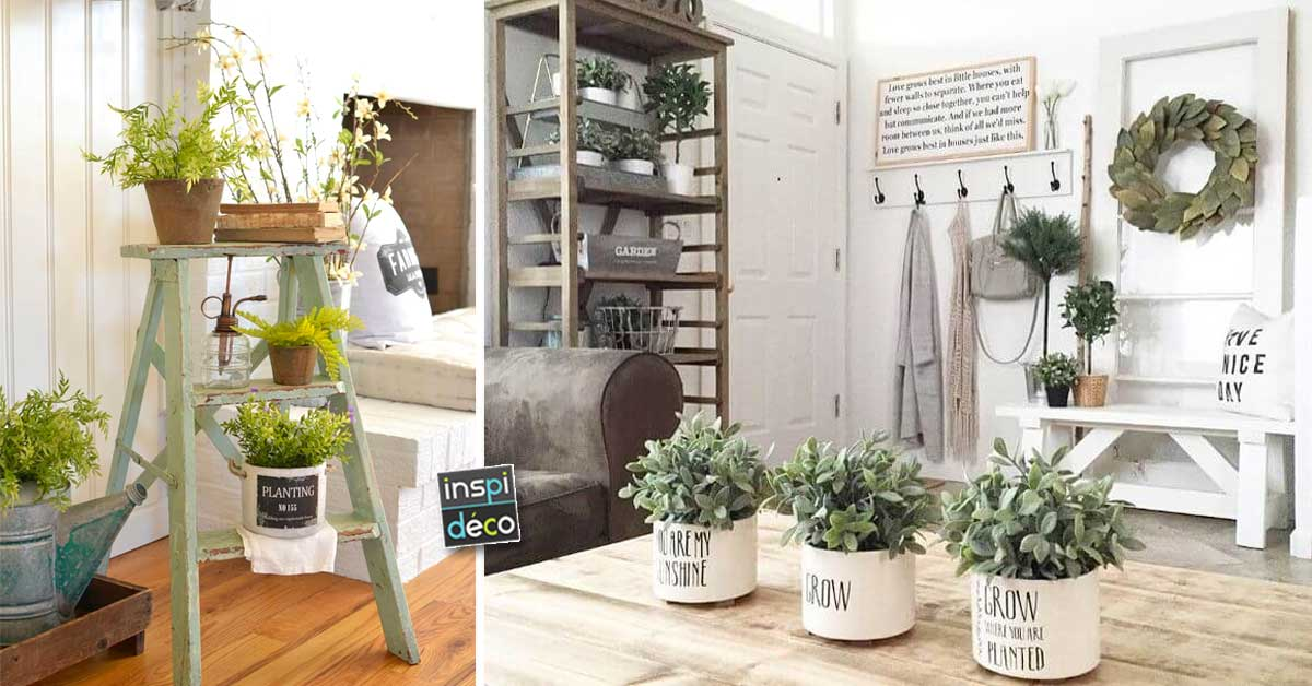 18 ideas deco style with small plants of provence. Black Bedroom Furniture Sets. Home Design Ideas