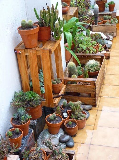 D corer avec des cagettes en bois 15 id es pour vous - Jardines decorados con madera ...