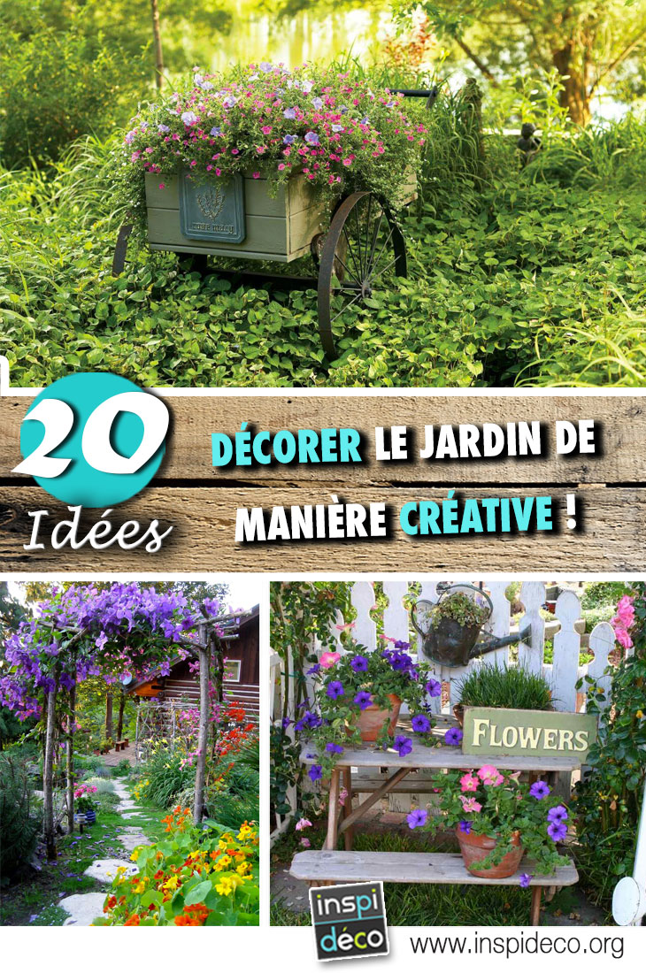 Decorar el jardín de una manera creativa con estas 20 ideas ...