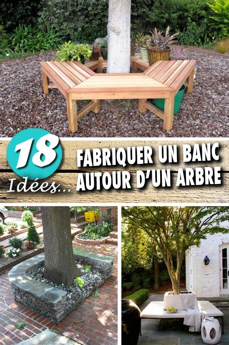 Faire Un Banc En Palette fabriquer un banc autour d'un arbre pour être toujours à l
