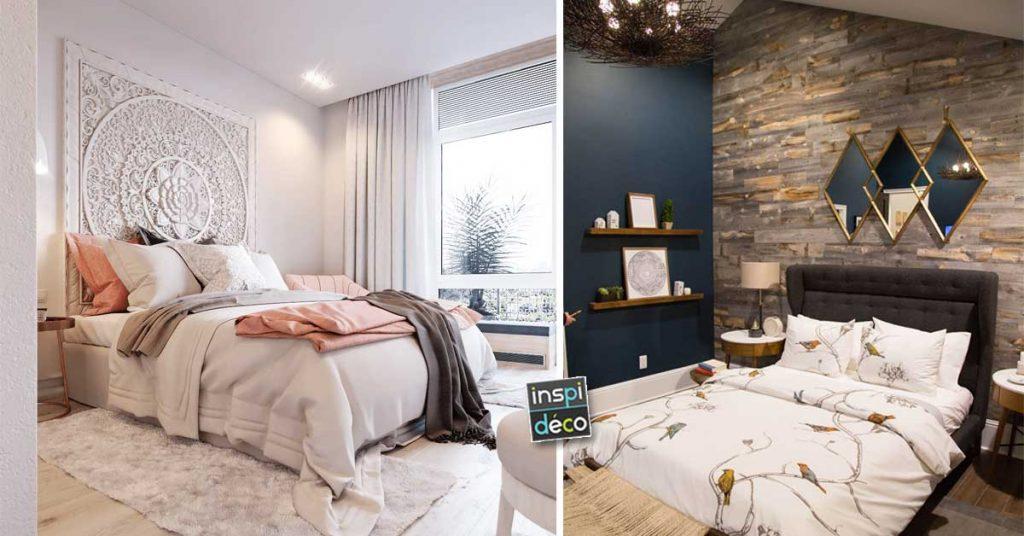 Déco mur chambre à coucher: 15 idées pour décorer avec ...