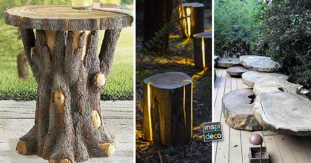 Tronc D Arbre Deco Jardin 15 Idees Diy Pour Un Jardin Tres