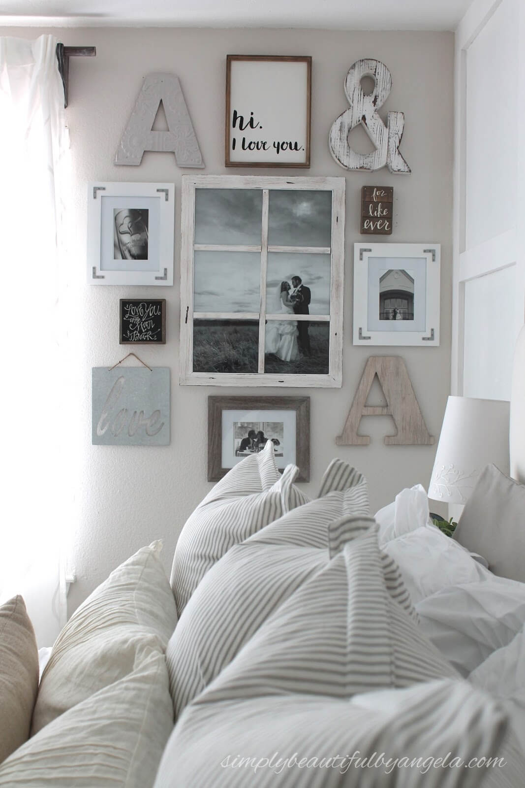 Camera da letto parete dec 15 idee per decorare con la natura - Decorare pareti camera ...