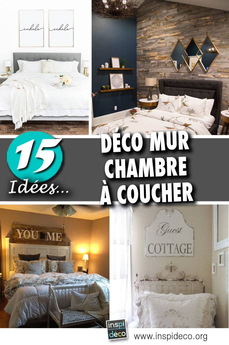 d co mur chambre coucher 15 id es pour d corer avec. Black Bedroom Furniture Sets. Home Design Ideas