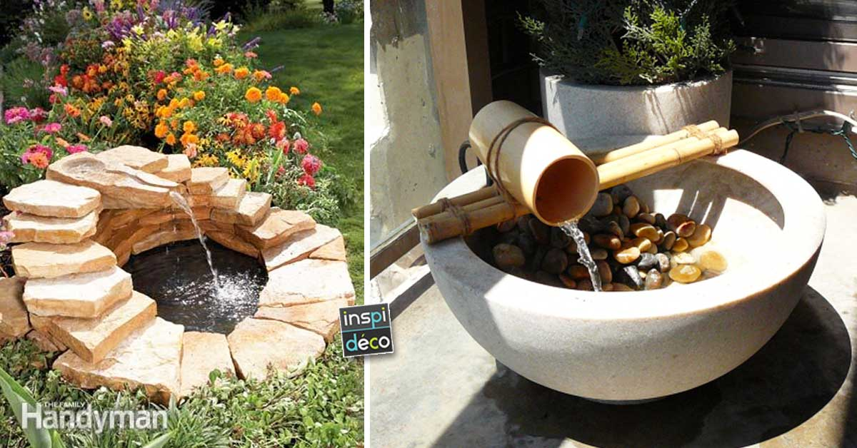 diy garden fountain 15 ideas for an original remote get inspired. Black Bedroom Furniture Sets. Home Design Ideas