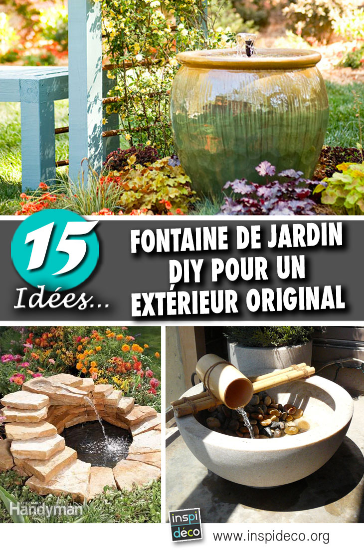 fontaine de jardin diy 15 id es pour un ext rieur original inspirez vous. Black Bedroom Furniture Sets. Home Design Ideas