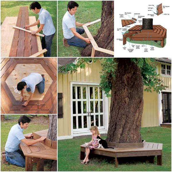 Fabriquer un banc autour d'un arbre