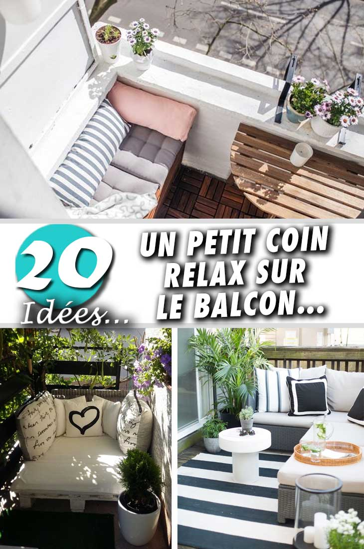 transformer son balcon en un petit coin relax 20 id es inspirantes. Black Bedroom Furniture Sets. Home Design Ideas