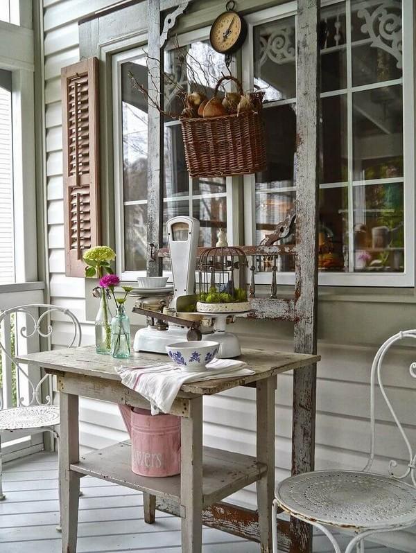 Déco rustique pour embellir le porche