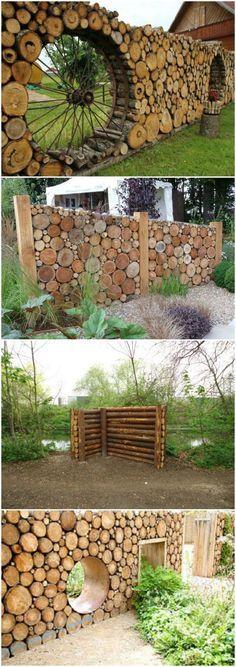 Tronc d\'arbre déco jardin: 15 idées DIY pour un jardin très original...