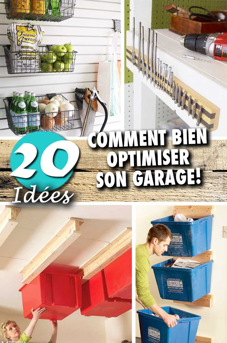 comment bien organiser son garage en 20 id es malines. Black Bedroom Furniture Sets. Home Design Ideas