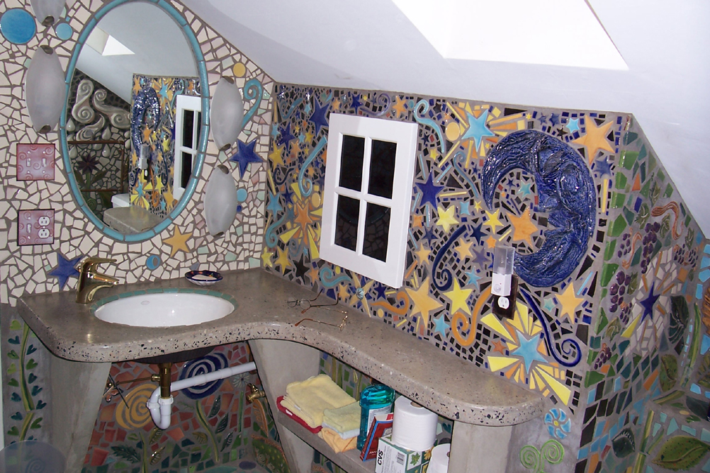 Decorate the bathroom with mosaics: 15 beautiful ideas!