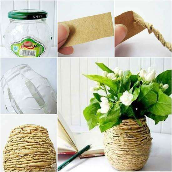Fabriquer un joli vase avec de la récup