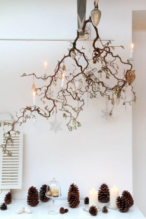 Des décorations noël avec troncs