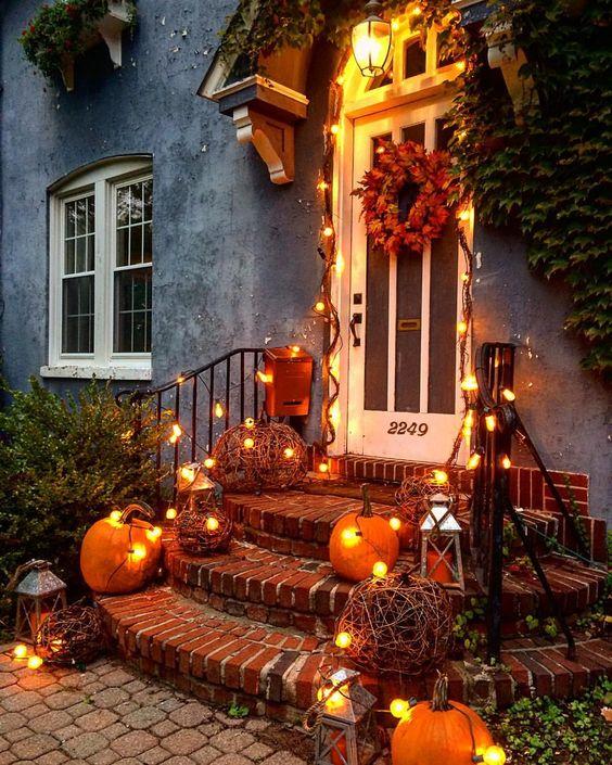 Décorer son porche en automne