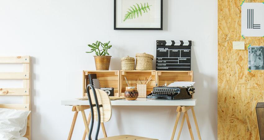 caisses en bois bureau