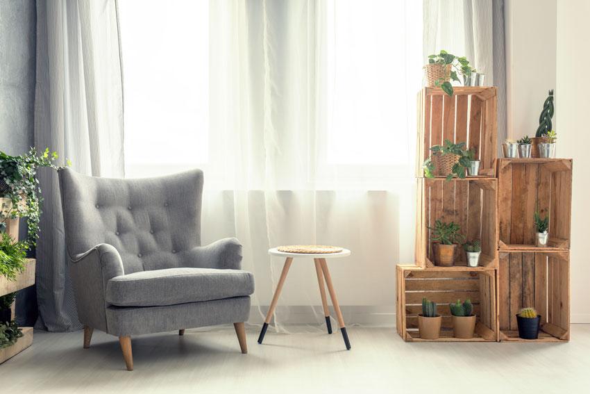 15 id es uniques pour d corer avec des caisses en bois for Mobili per arredare casa