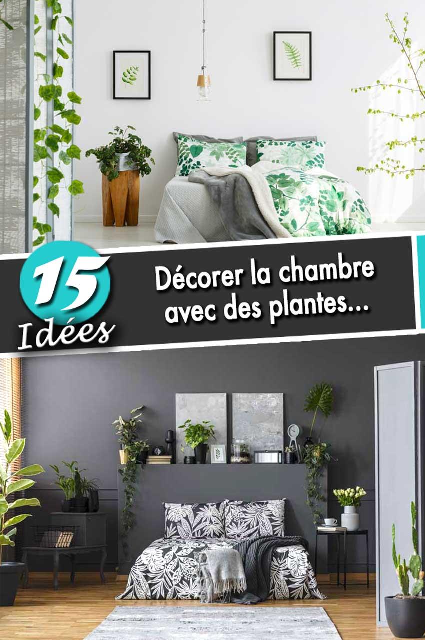Décorer la chambre à coucher avec des plantes! 15 idées inspirantes...