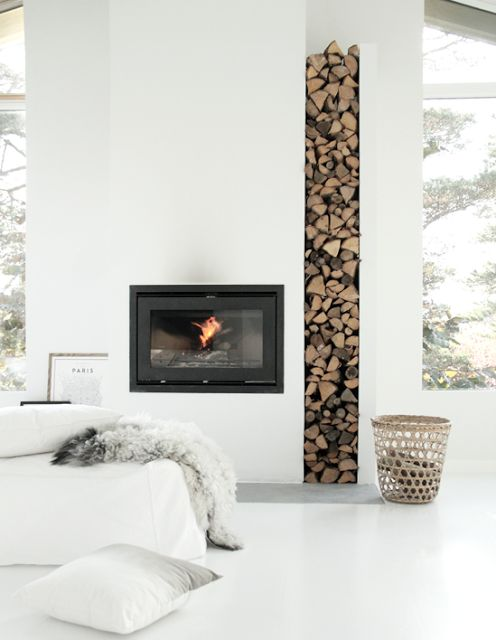 Rangement de bois de chauffage