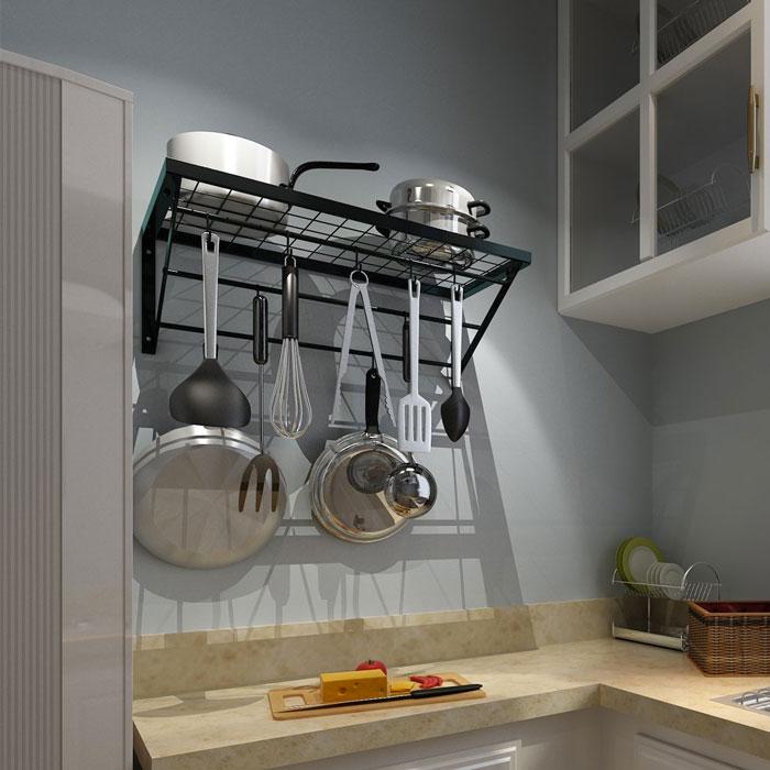 Rangement gain de place dans une petite cuisine