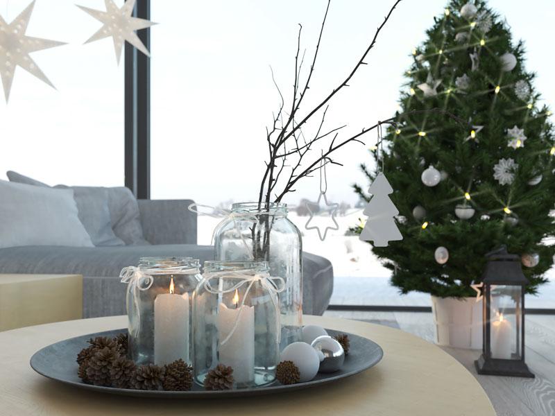 Décorations Noël DIY avec des brindilles.