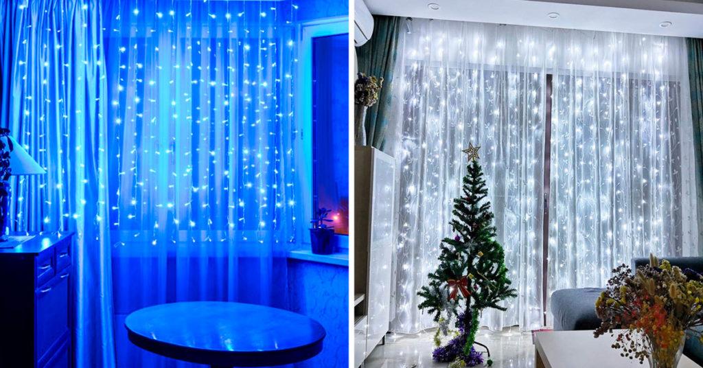 LED rideaux pour noel