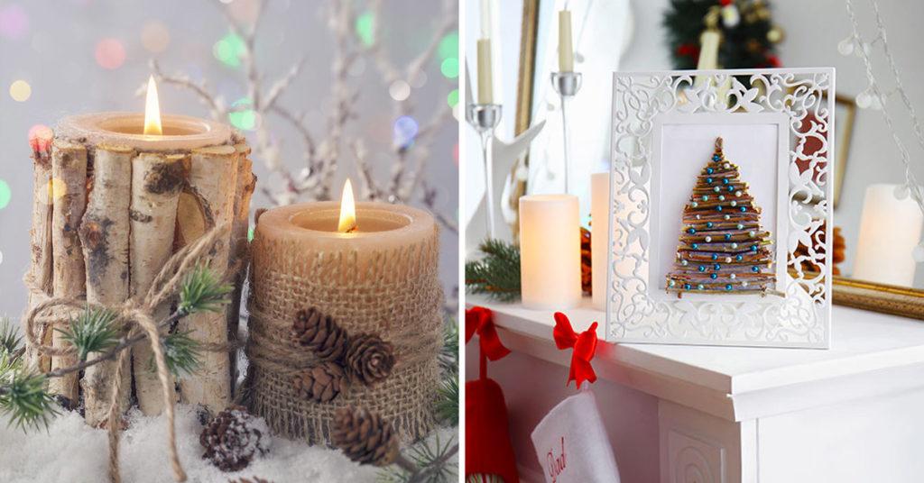 Déco Noël en bois recyclé.